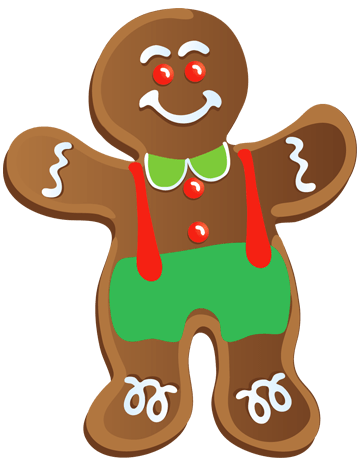 Gingerbread boy clipart 1 » Clipart Portal.