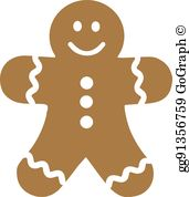 Gingerbread Man Clip Art.