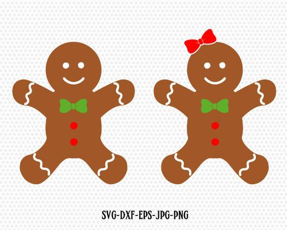Gingerbread Cookies,Gingerman Svg,Gingerbread boy girl clip art,Christmas  SVG Cutting File Svg,CriCut Files svg jpg png dxf Silhouette cameo.