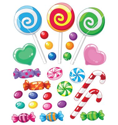 Set of sweets vector.