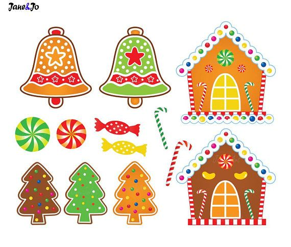 30 Gingerbread Clipart,Gingerbread cliparts,Christmas.