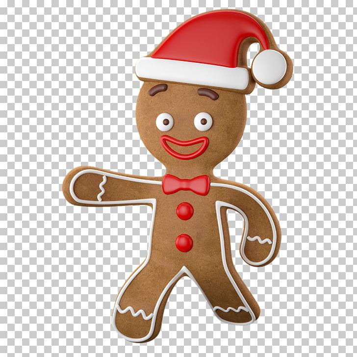 Gingerbread Christmas ornament Cartoon, Christmas doll PNG.