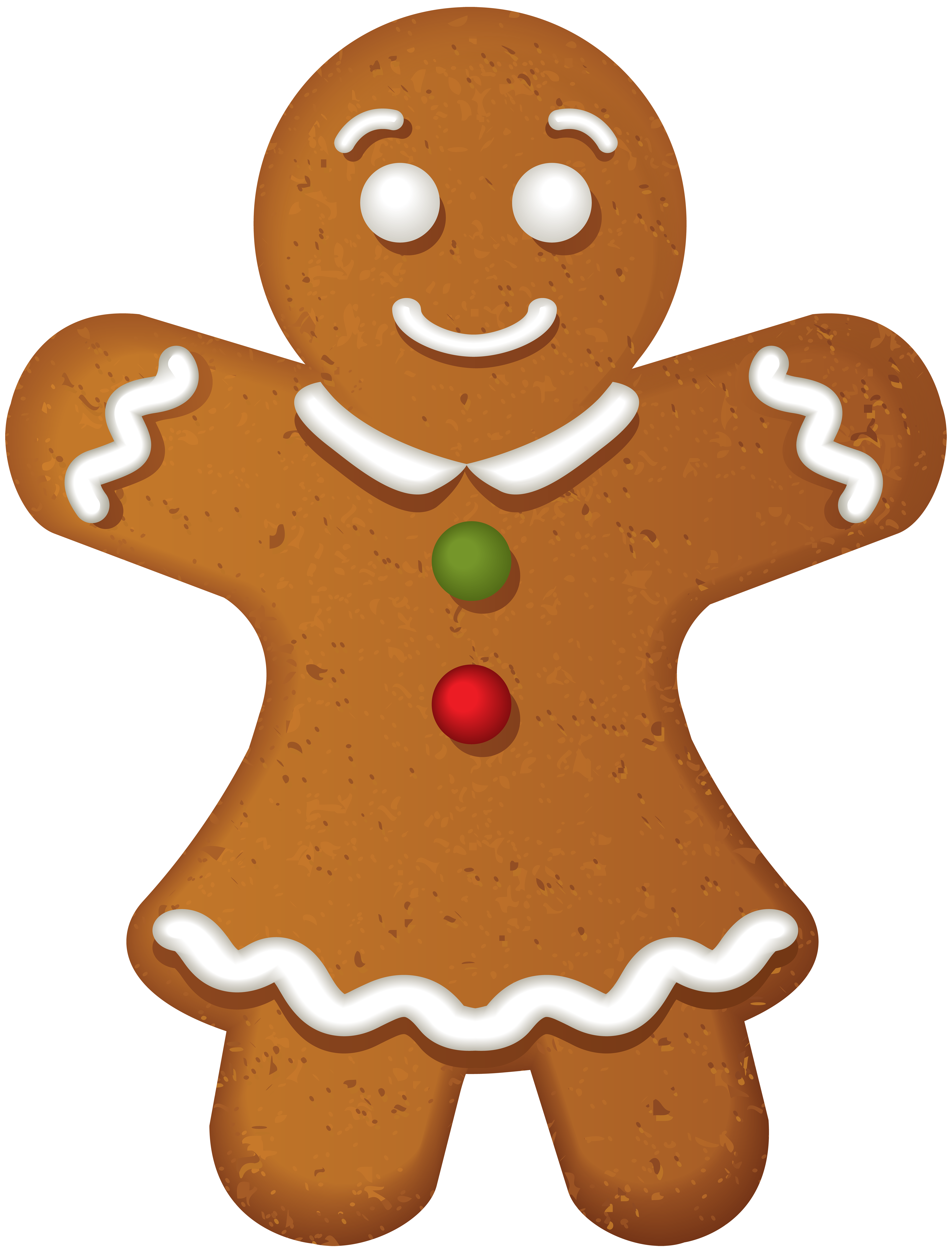Gingerbread Girl Cookie PNG Clip Art.