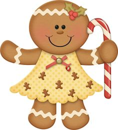 Christmas gingerbread clipart.