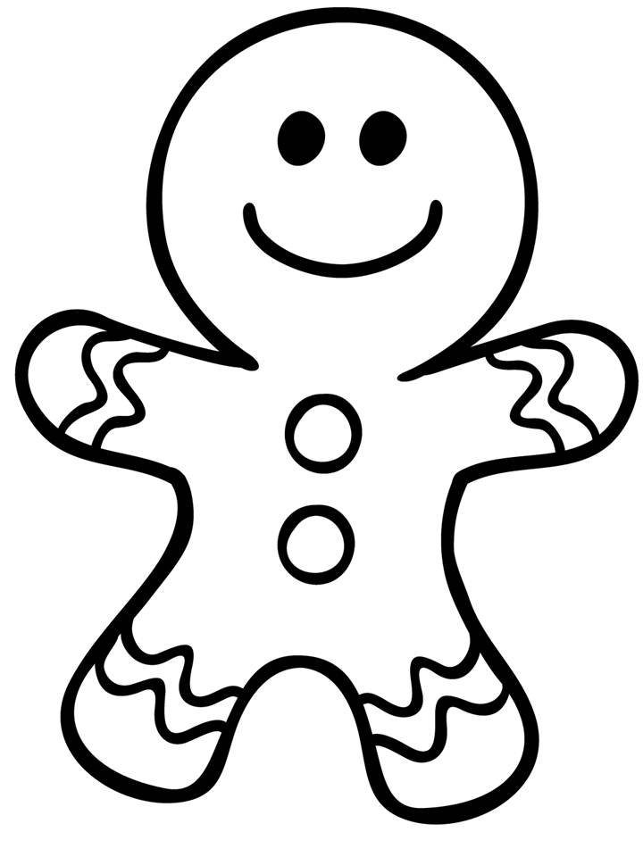 Gingerbread Clipart Black And White.