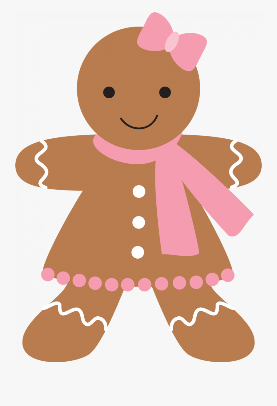 Pink Gingerbread Girl Clipart , Free Transparent Clipart.