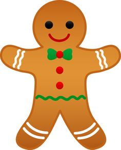 Clipart Of A Gingerbread Man.