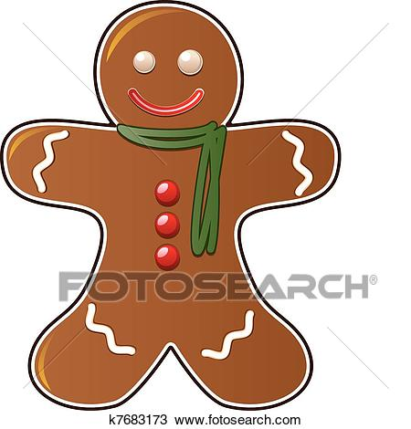 Gingerbread cookie Clipart.