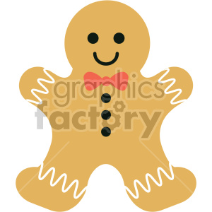 gingerbread man cookie clipart . Royalty.