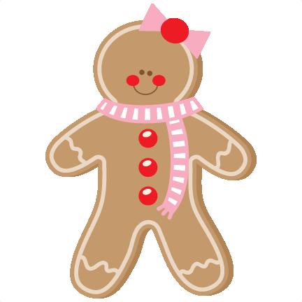 Gingerbread Girl SVG scrapbook cut file cute clipart files for.