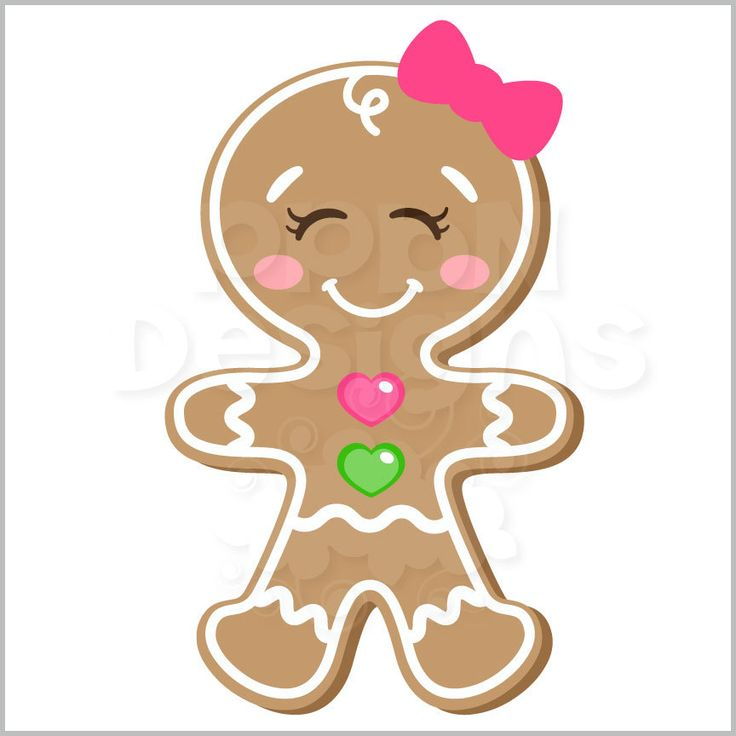 Gingerbread Girl Clipart.