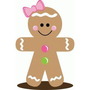 Christmas gingerbread girl.