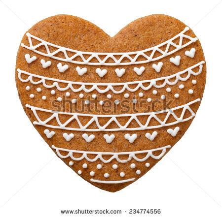 Gingerbread Heart Stock Photos, Royalty.