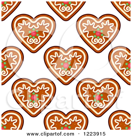 Cookie Gingerbread Heart Clip Art.