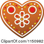 Cookie Gingerbread Heart Clip Art.