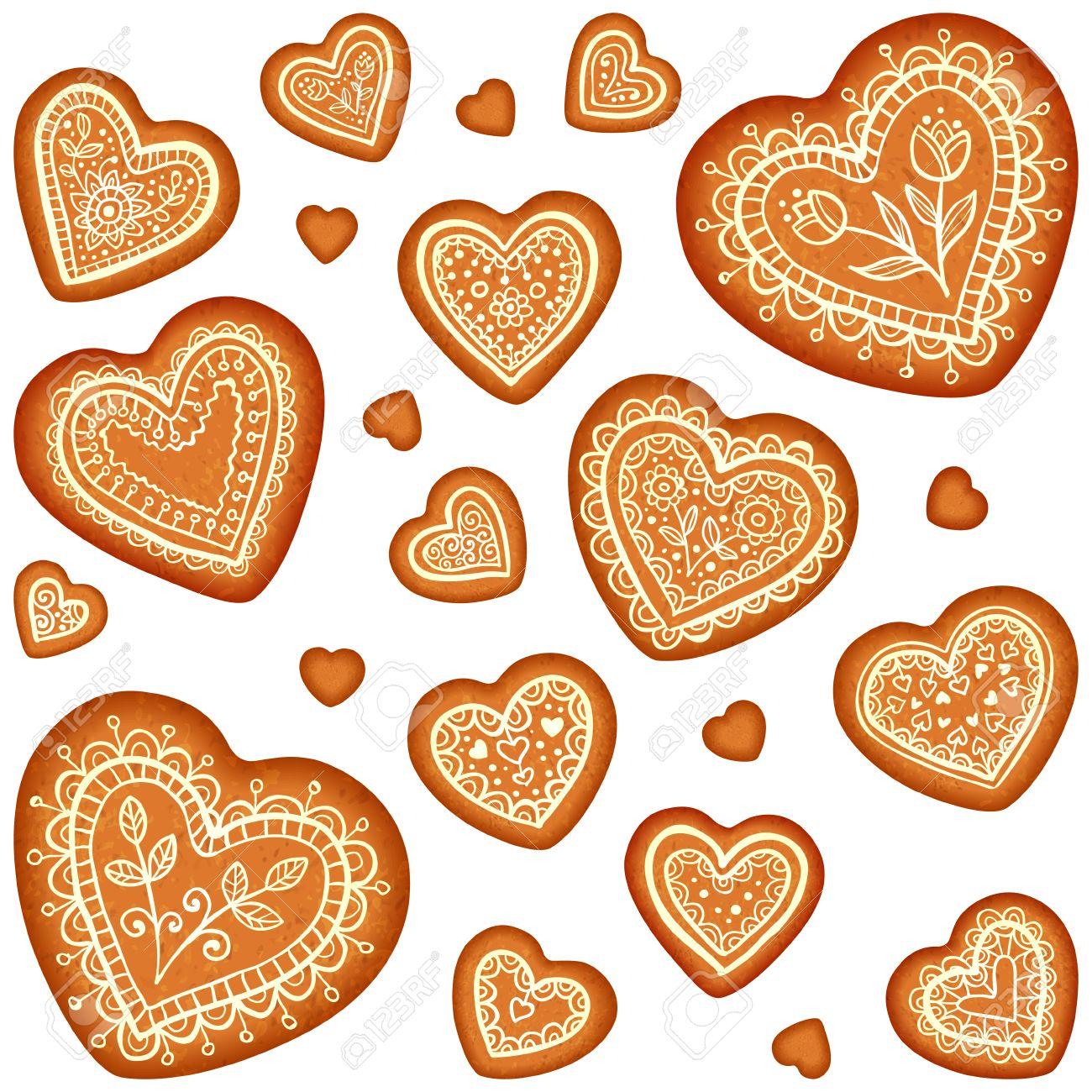 Gingerbread Heart Clip Art.