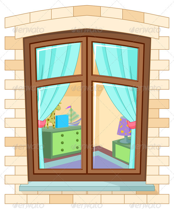 Showing post & media for Cartoon house with window.