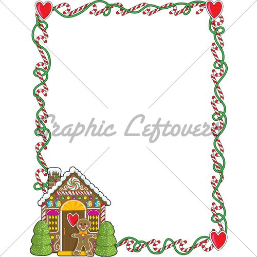 Free Gingerbread Clip Art Borders.