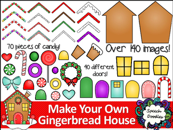 Make your own Gingerbread House Printable and Clipart.