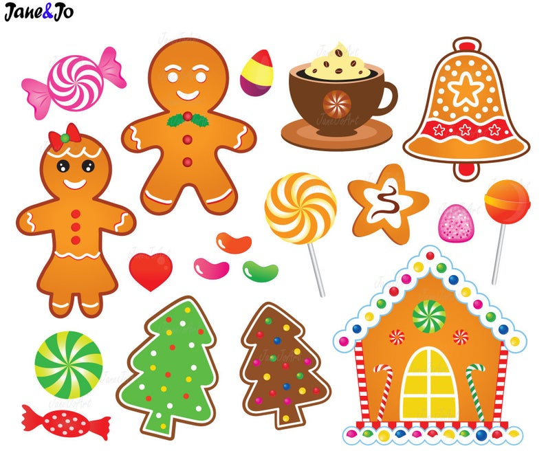 30 Gingerbread Clipart,Gingerbread cliparts,Christmas Gingerbread Cookies  Clipart,Gingerbread Man Christmas Clip Art,gingerbread house,candy.