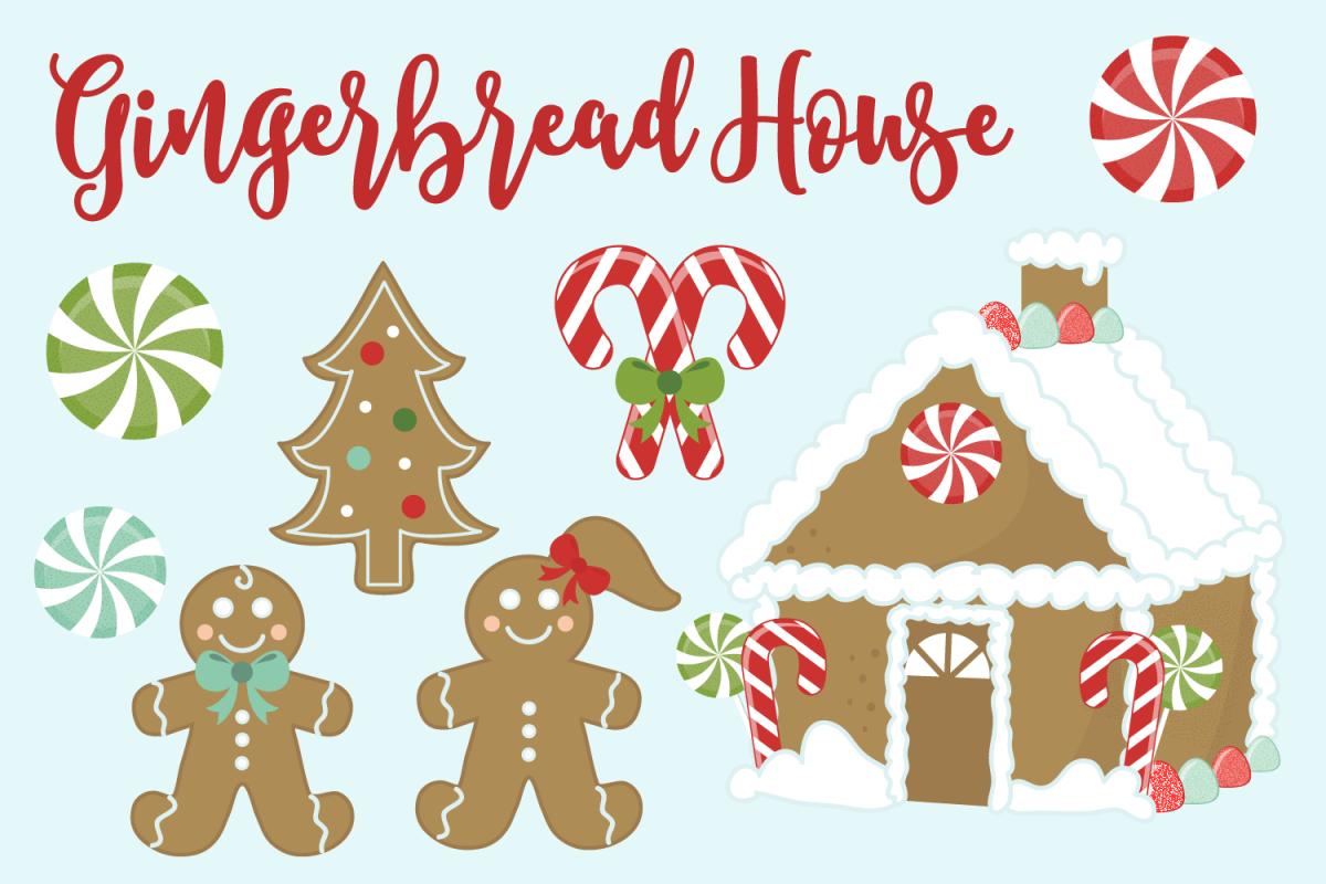 Gingerbread House Clip Art.