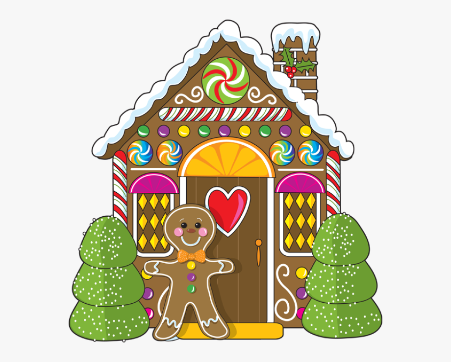 Gingerbread House Clip Art Free.