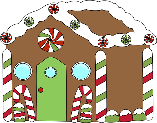 Gingerbread House Clip Art.