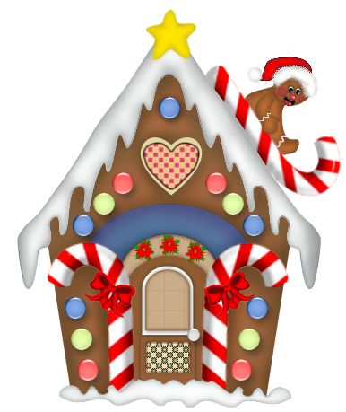 Free clipart gingerbread house.