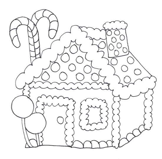 House black and white gingerbread house clipart black and white.