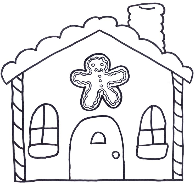 Gingerbread house clipart black and white free clip art images.