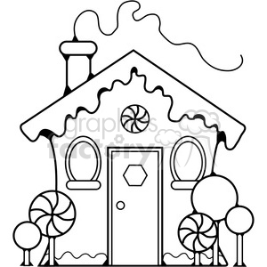 Gingerbread House clipart. Royalty.