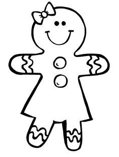 Gingerbread Man Story Clipart Black And White.