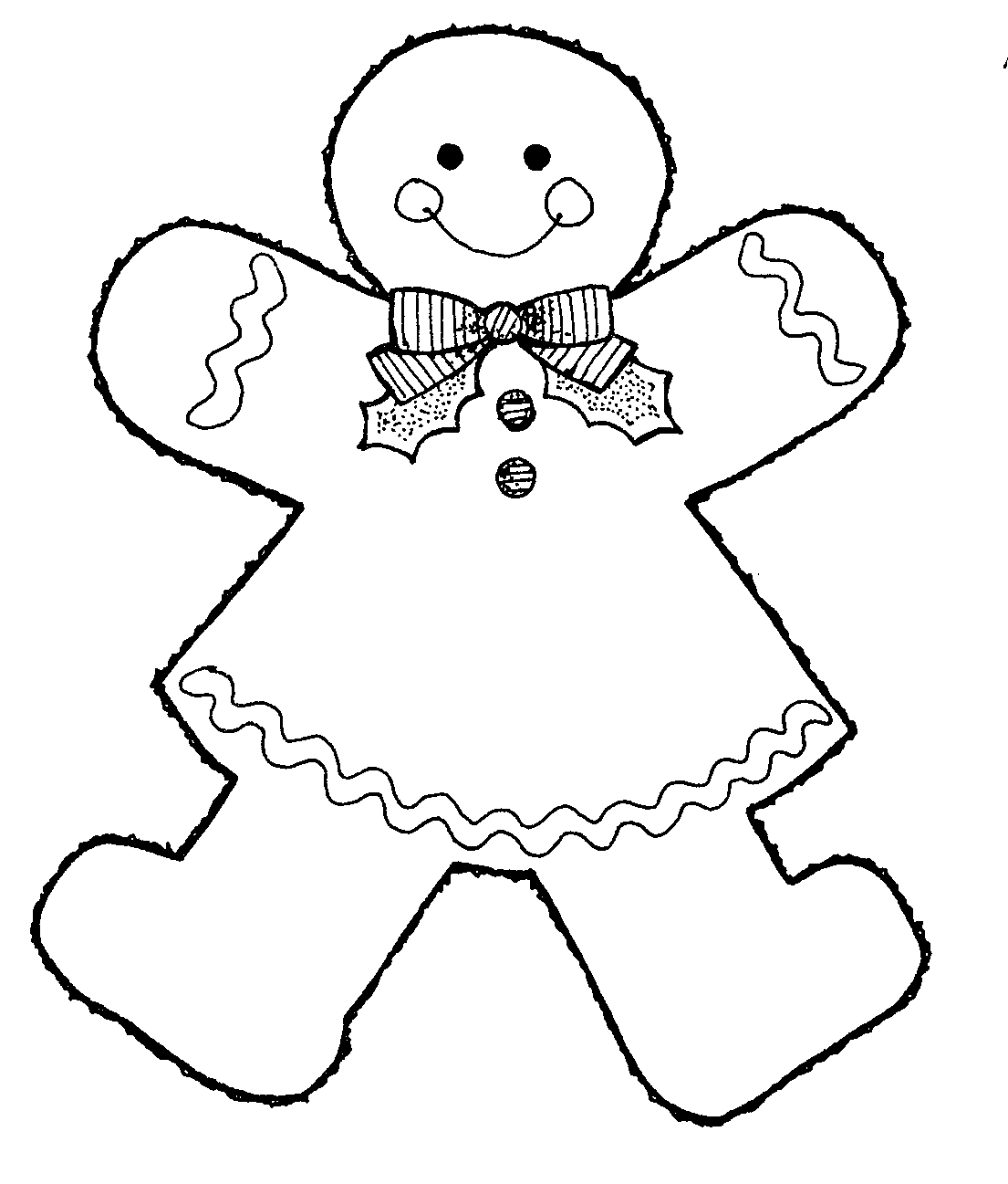 Gingerbread Man Clip Art Black And White.