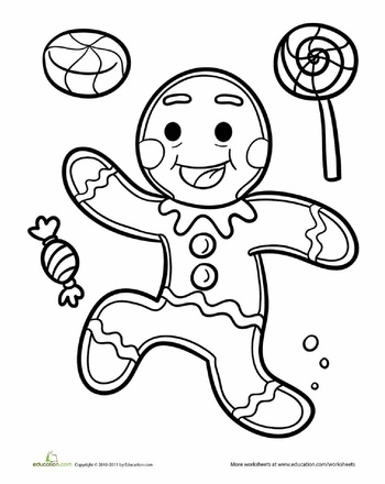 Running Gingerbread Man Clipart Black And White.