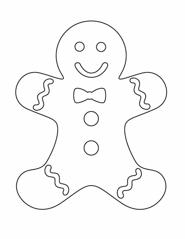 Gingerbread Man Clipart Black And White.