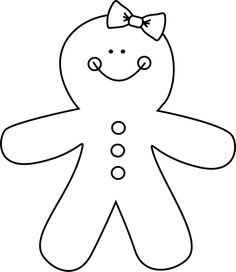 Black and White Gingerbread Man.