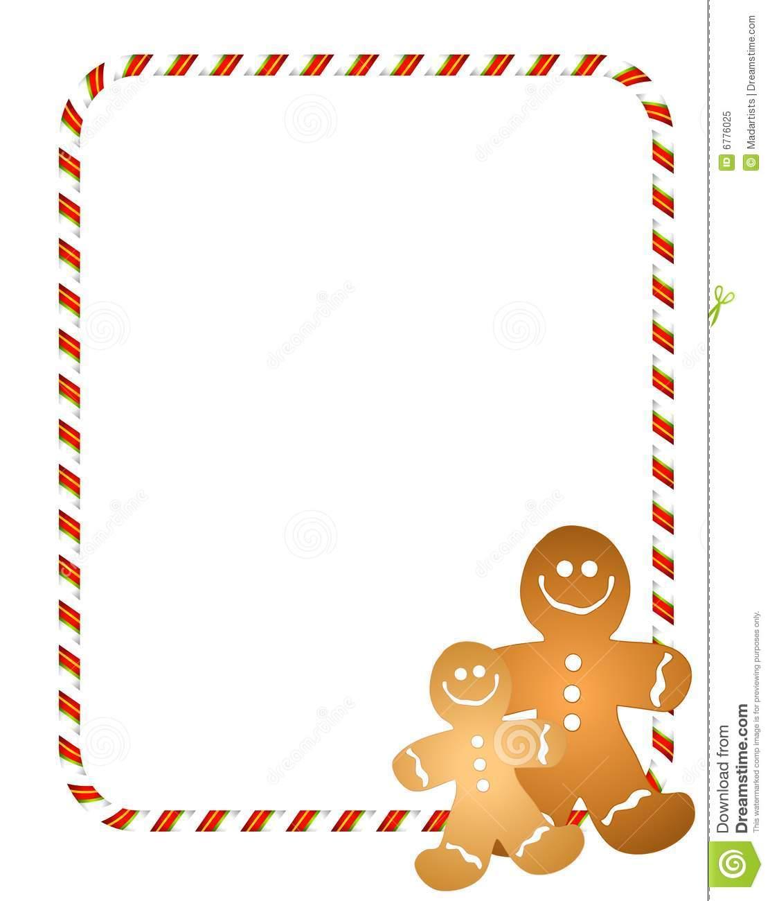 Gingerbread Men Border stock illustration. Illustration of wallpaper.