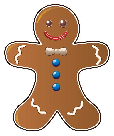 Christmas gingerbread man clip art image 4 2.