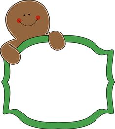 Free Christmas Gingerbread Man Clipart.
