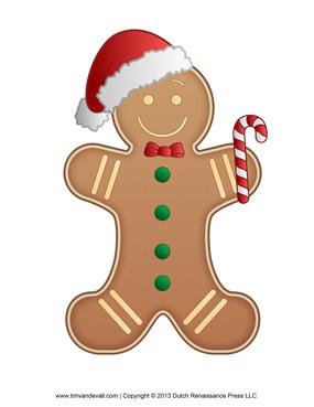 Gingerbread Man Christmas Clipart.