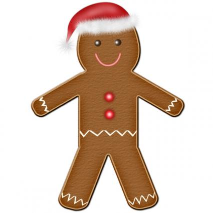 Christmas clip art and free graphics gingerbread man christmas.