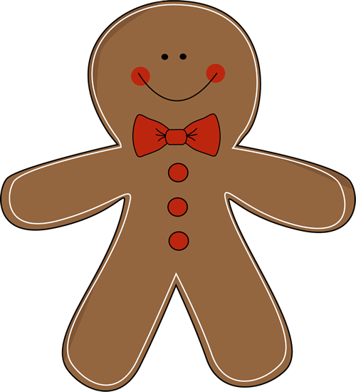 Gingerbread Man Clip Art N5 free image.