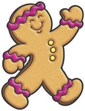 Gingerbread Man Clip Art Free.