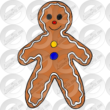 Gingerbread Man Picture for Classroom / Therapy Use.