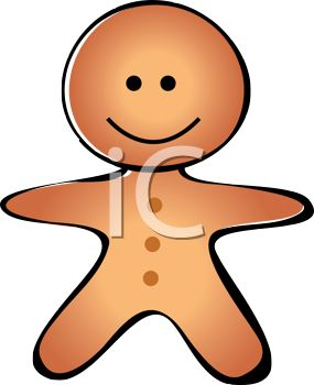 Animated Gingerbread Man Clipart.