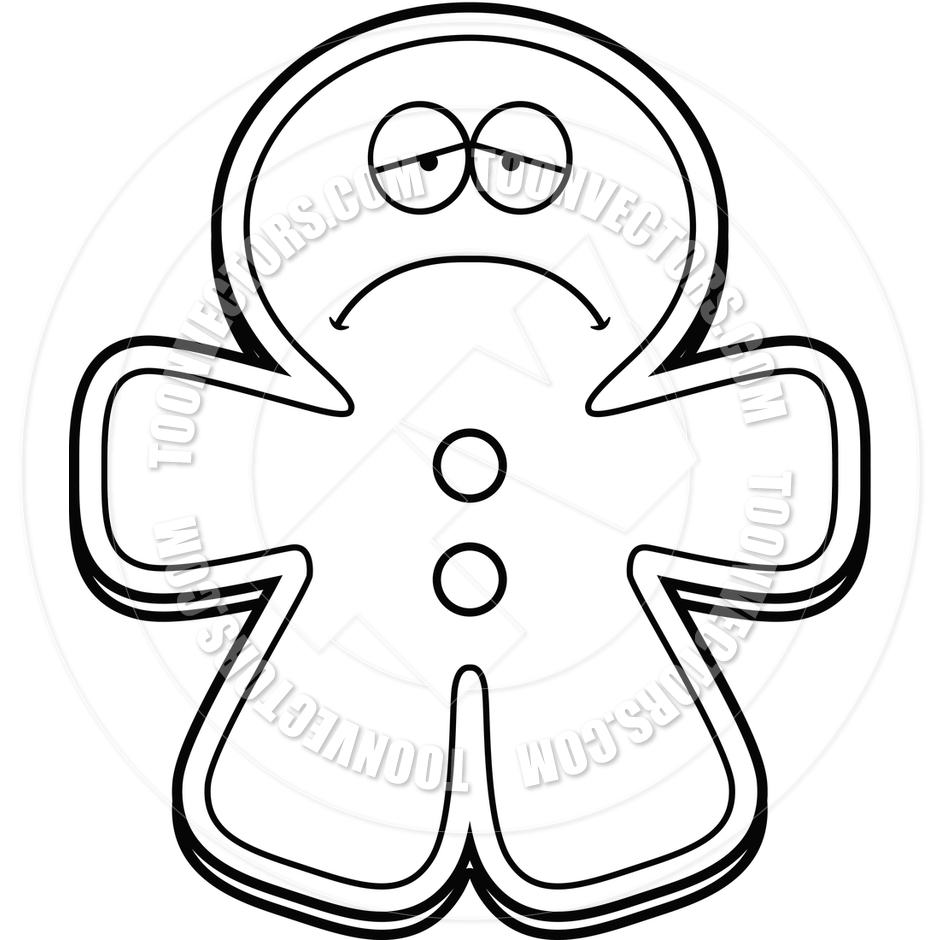 Gingerbread Man Clipart Sad.