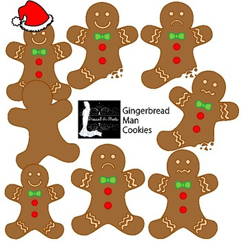 Gingerbread Man Cookies Clipart.