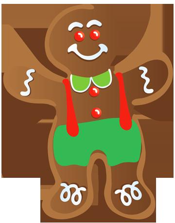 CHRISTMAS GINGERBREAD MAN CLIP ART Typical Gingerbread Man Clipart.