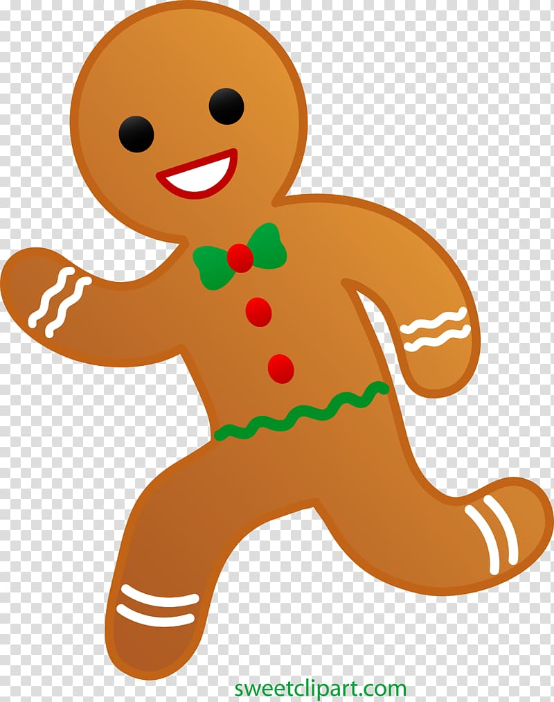 Gingerbread man Biscuits , ginger transparent background PNG clipart.