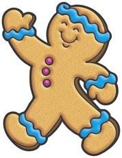 Gingerbread man running clipart » Clipart Portal.